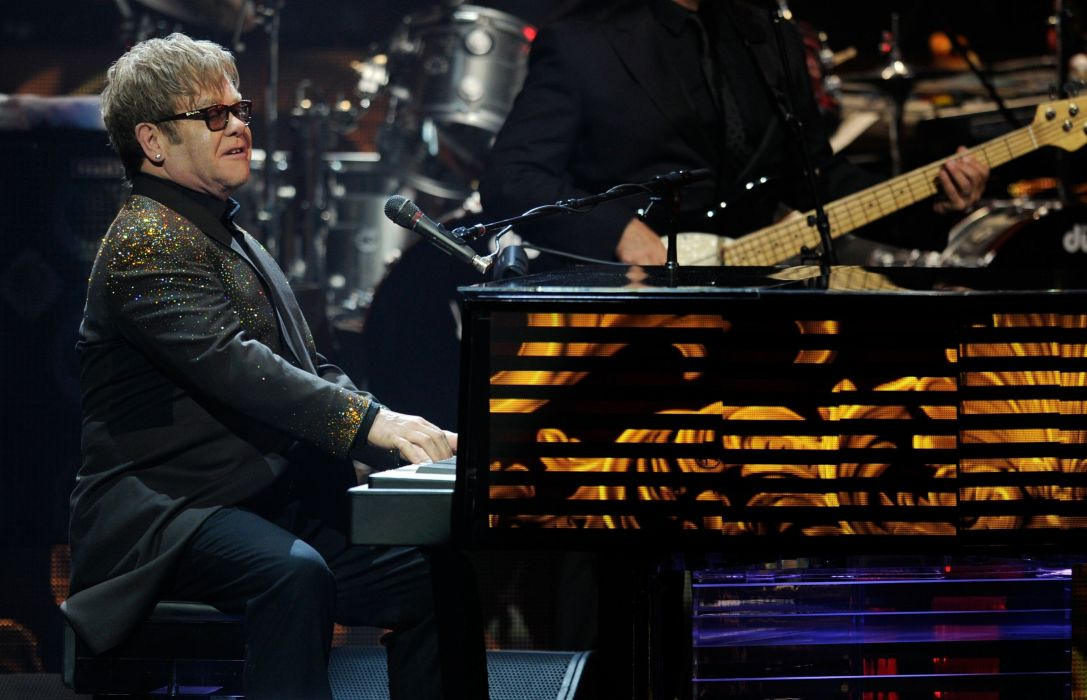 ELTON JOHN rock pop glam classic piano concert wallpaper