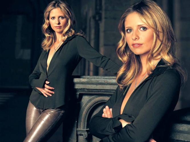 BUFFY VAMPIRE SLAYER supernatural drama fantasy action horror series sarah michelle gellar wallpaper