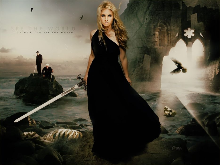 BUFFY VAMPIRE SLAYER supernatural drama fantasy action horror series sarah michelle gellar wallpaper