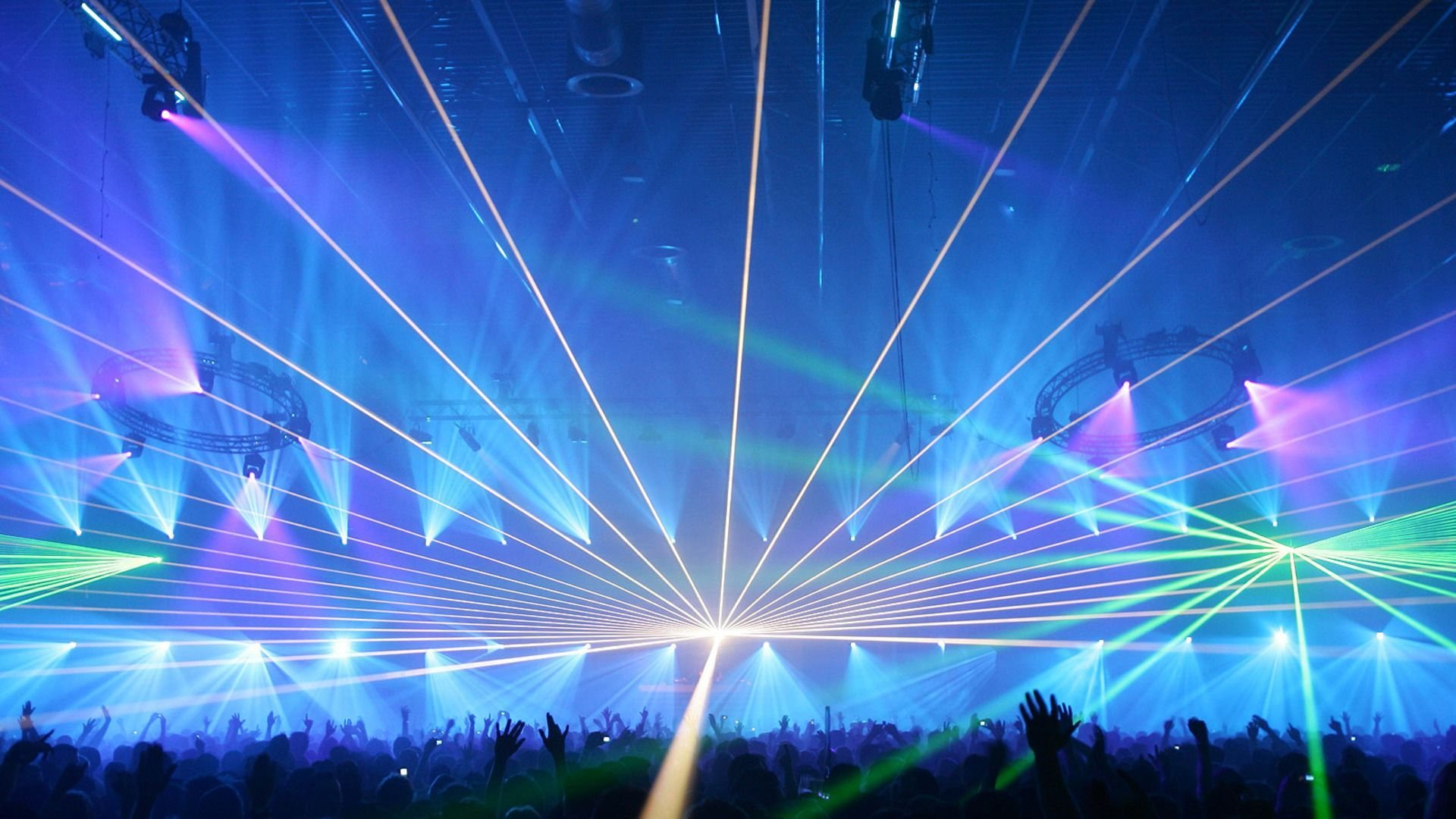 Laser show concert lights color abstraction psychedelic ...