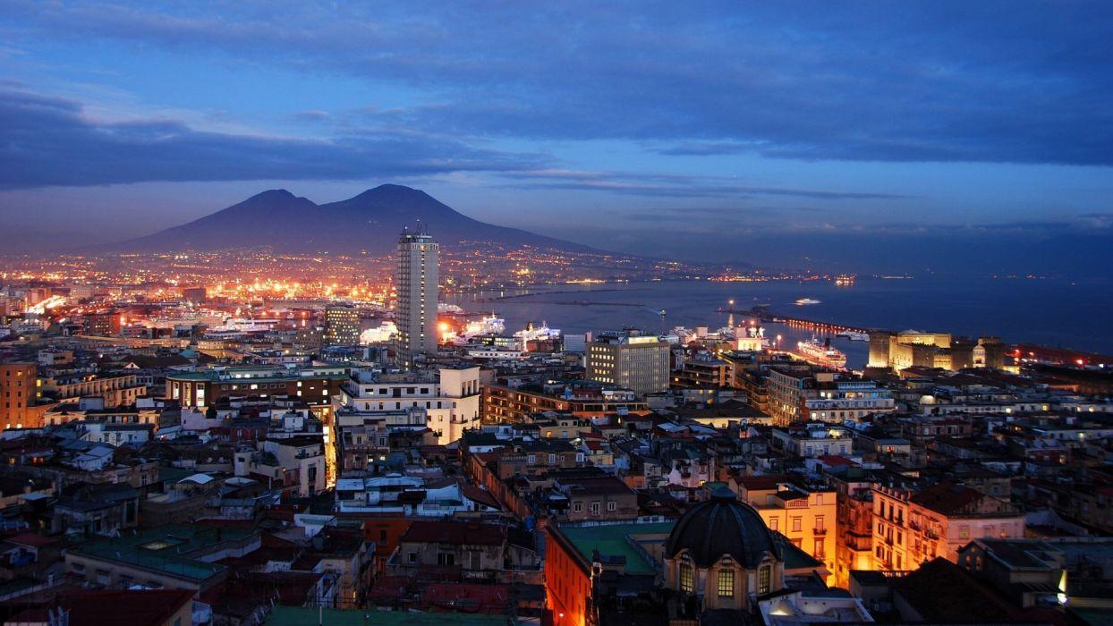 NAPLES ITALY city cities building buildings italian Napoli wallpaper