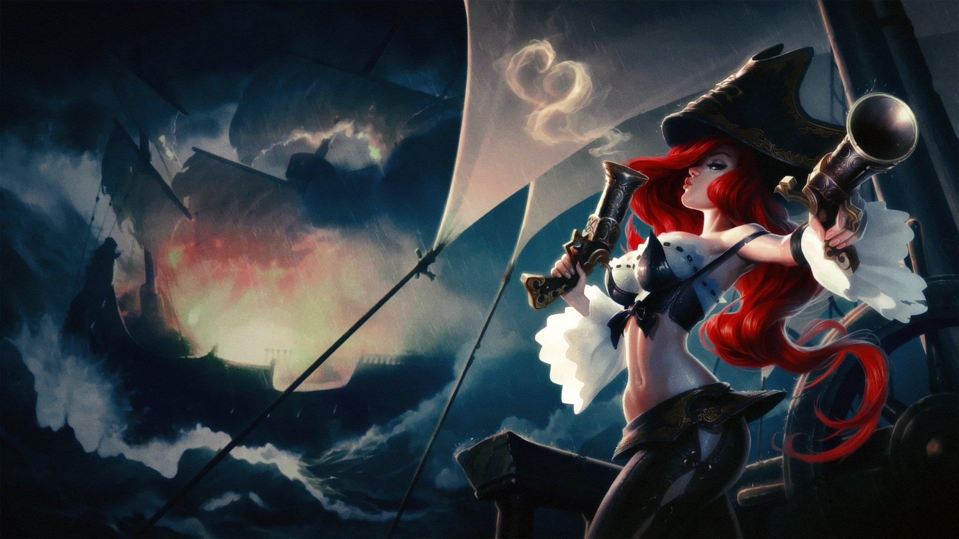 blue classic cloudy fortune legends lol miss pirate
