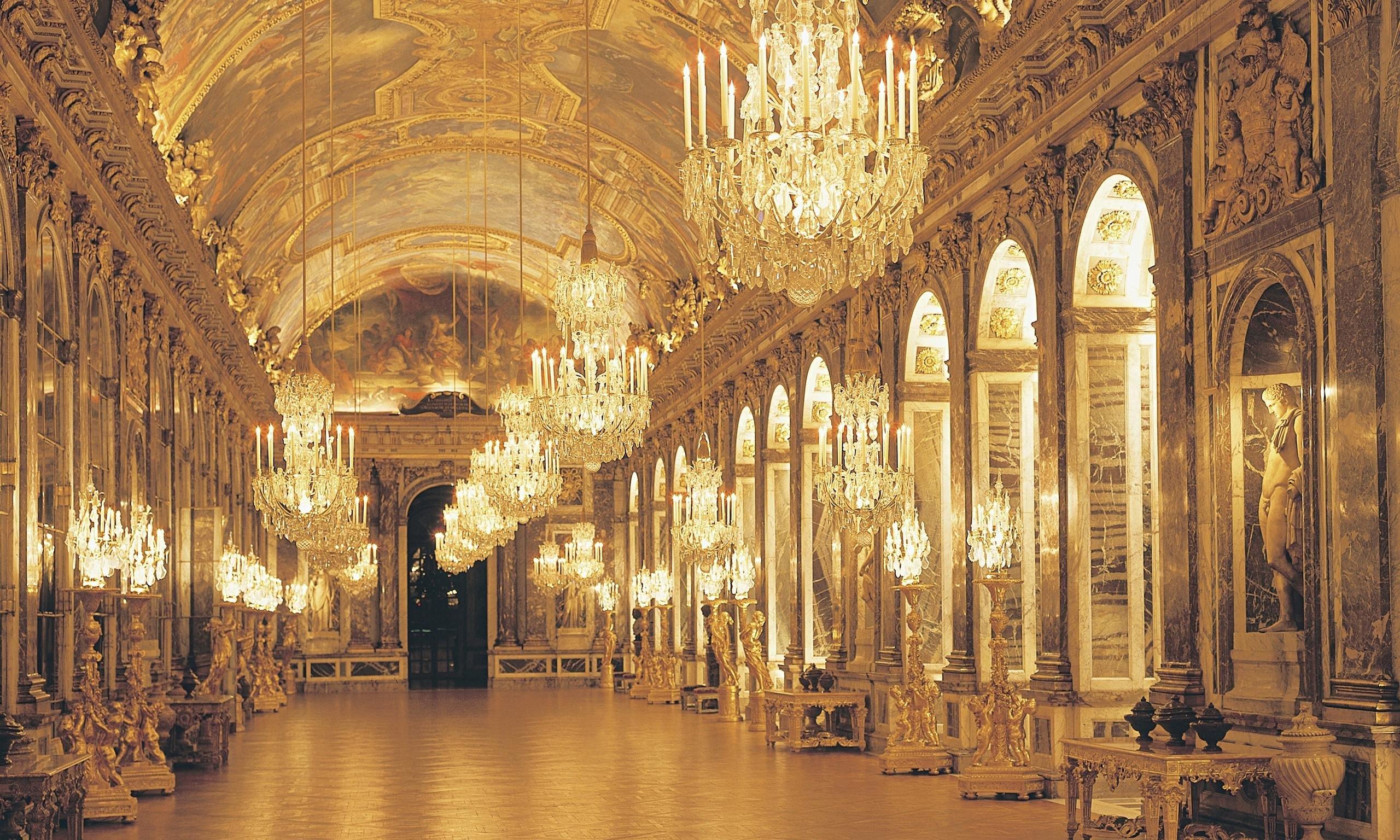 Chateau De Versailles Palace France French Building Design Room Wallpaper 2560x1536 428213