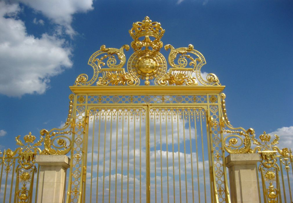CHATEAU de VERSAILLES palace france french building fence wallpaper