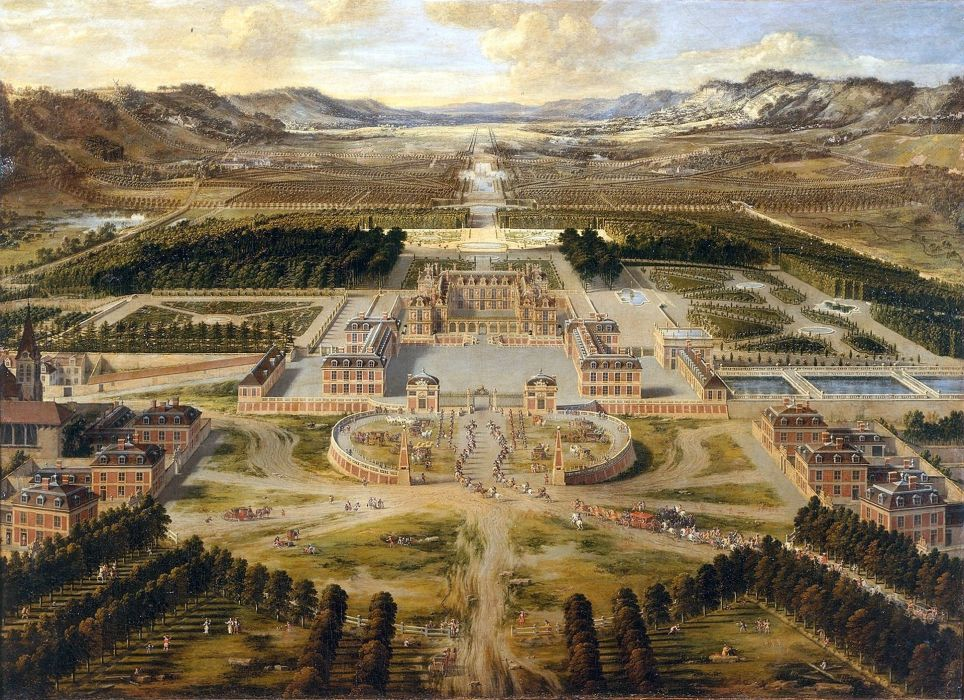 CHATEAU de VERSAILLES palace france french building painting wallpaper