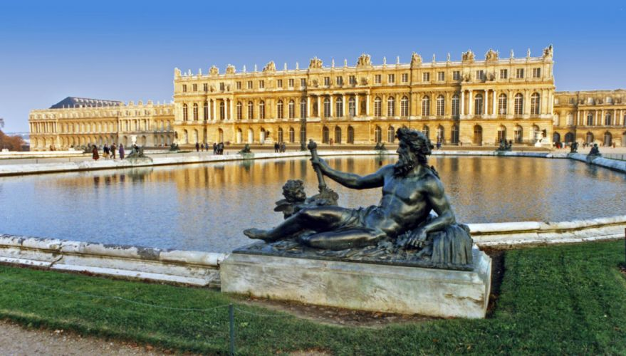 CHATEAU de VERSAILLES palace france french building statue wallpaper