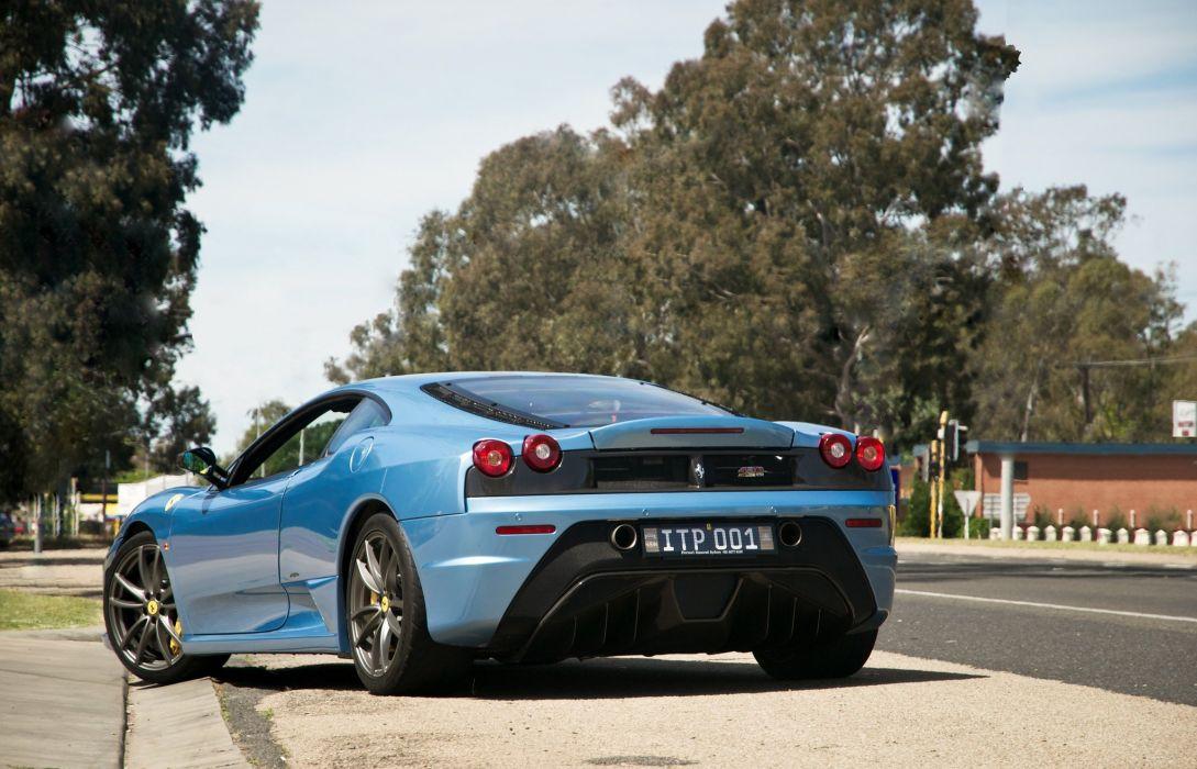 Coupe F430 Ferrari Italia scuderia Supercar blue blu wallpaper
