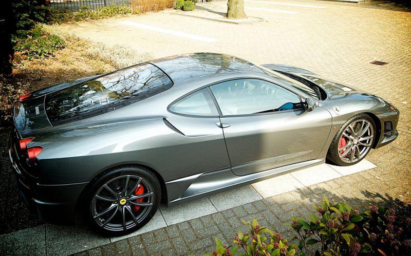 Coupe F430 Ferrari Italia gris scuderia Supercar wallpaper