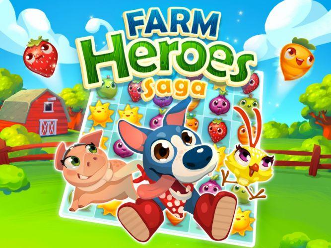 FARM HEROES SAGA puzzle adventure family wallpaper