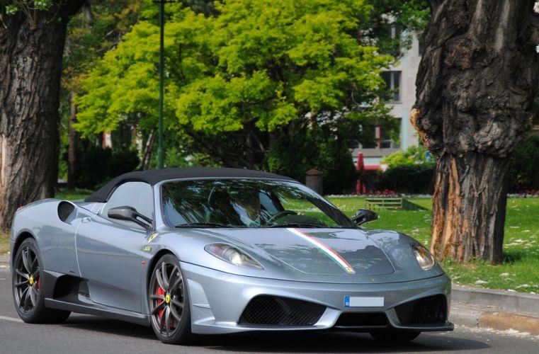 16m 2009 Ferrari scuderia spider Supercar gris gray grigio wallpaper