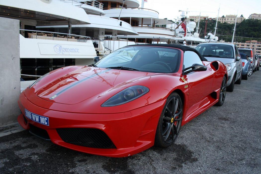 16m 2009 Ferrari scuderia spider Supercar rouge red rosso wallpaper