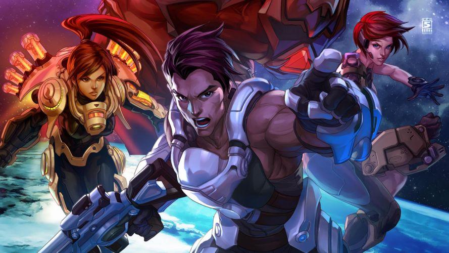 FIREFALL shooter mmo online fantasy sci-fi wallpaper