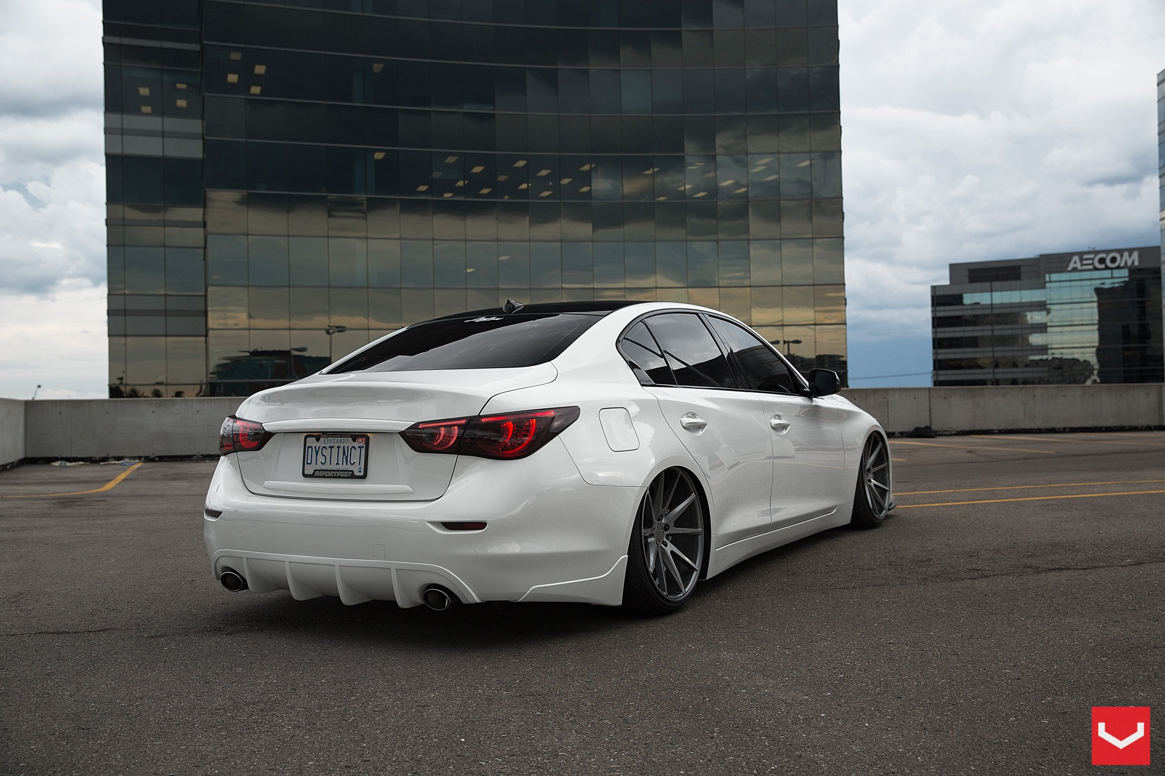 Infiniti Q50 Vossen Wheels Tuning Wallpaper 2300x1533