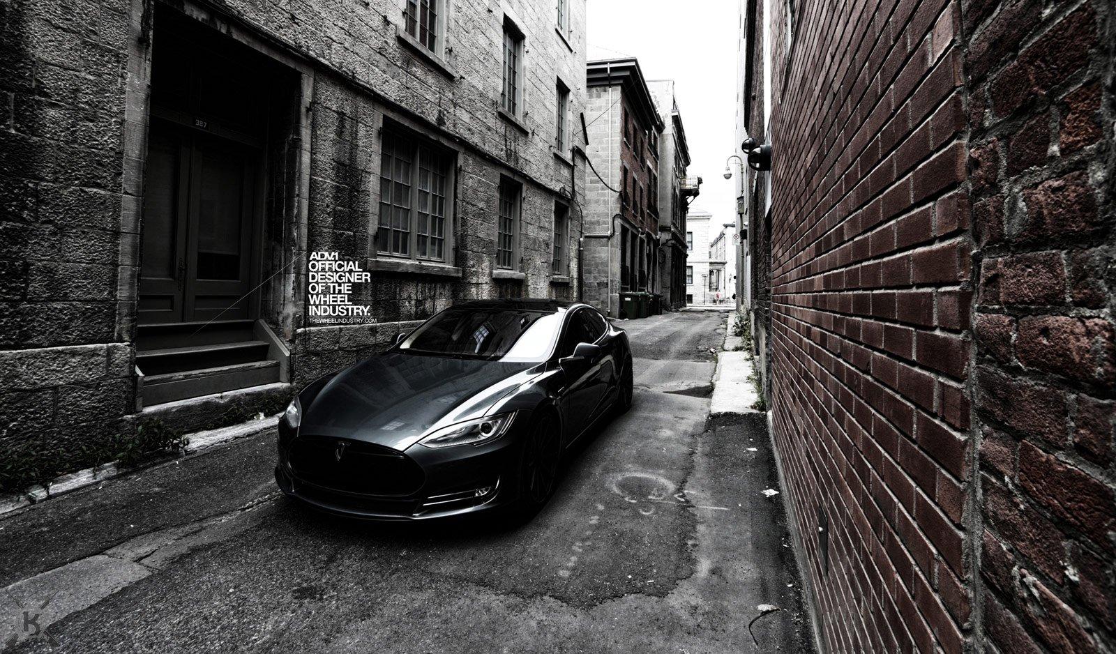 Tuning Adv1 Wheels Tesla Model S Wallpaper