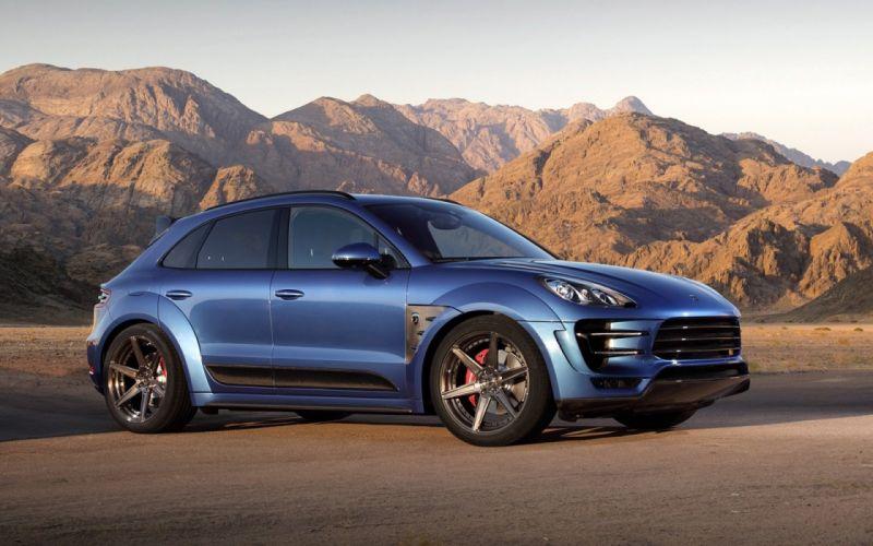 2014 TopCar Porsche Macan tuning blue bleu wallpaper