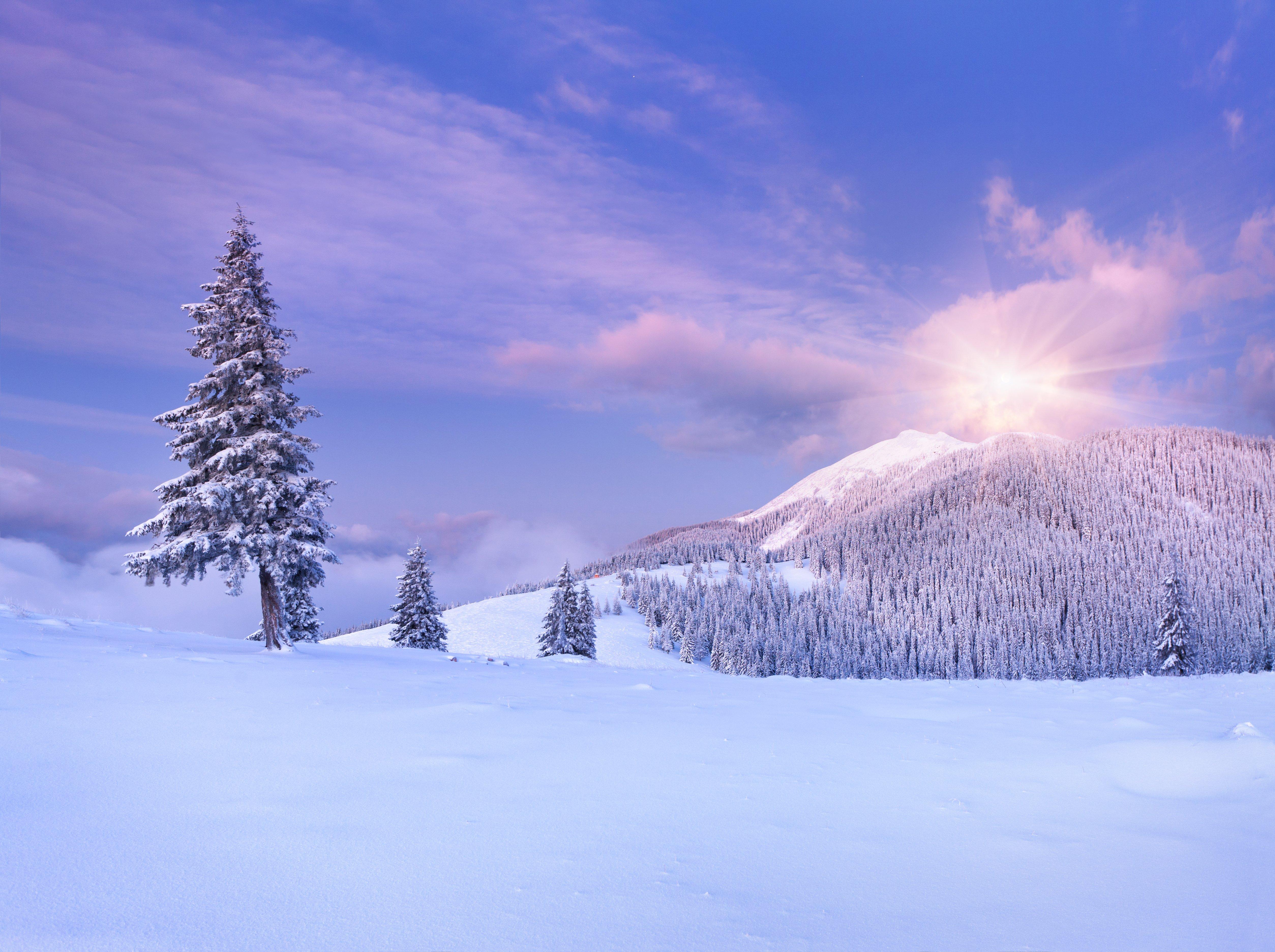 santa sky snow wallpaper - photo #32