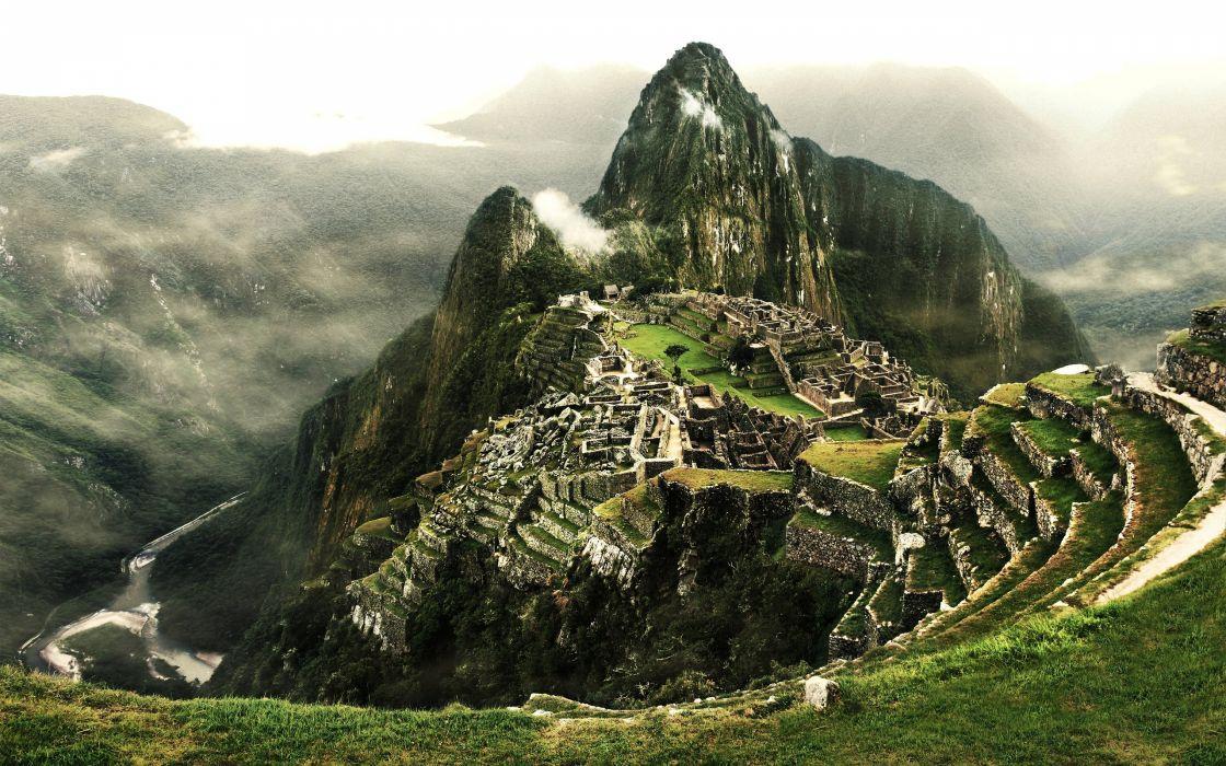 Machu Picchu the Inca city Peru Mountain axtec ancient wallpaper