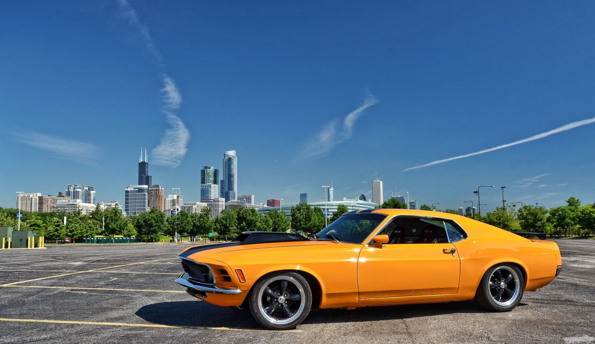 muscle car 1970 ford mustang hot rod rods wallpaper