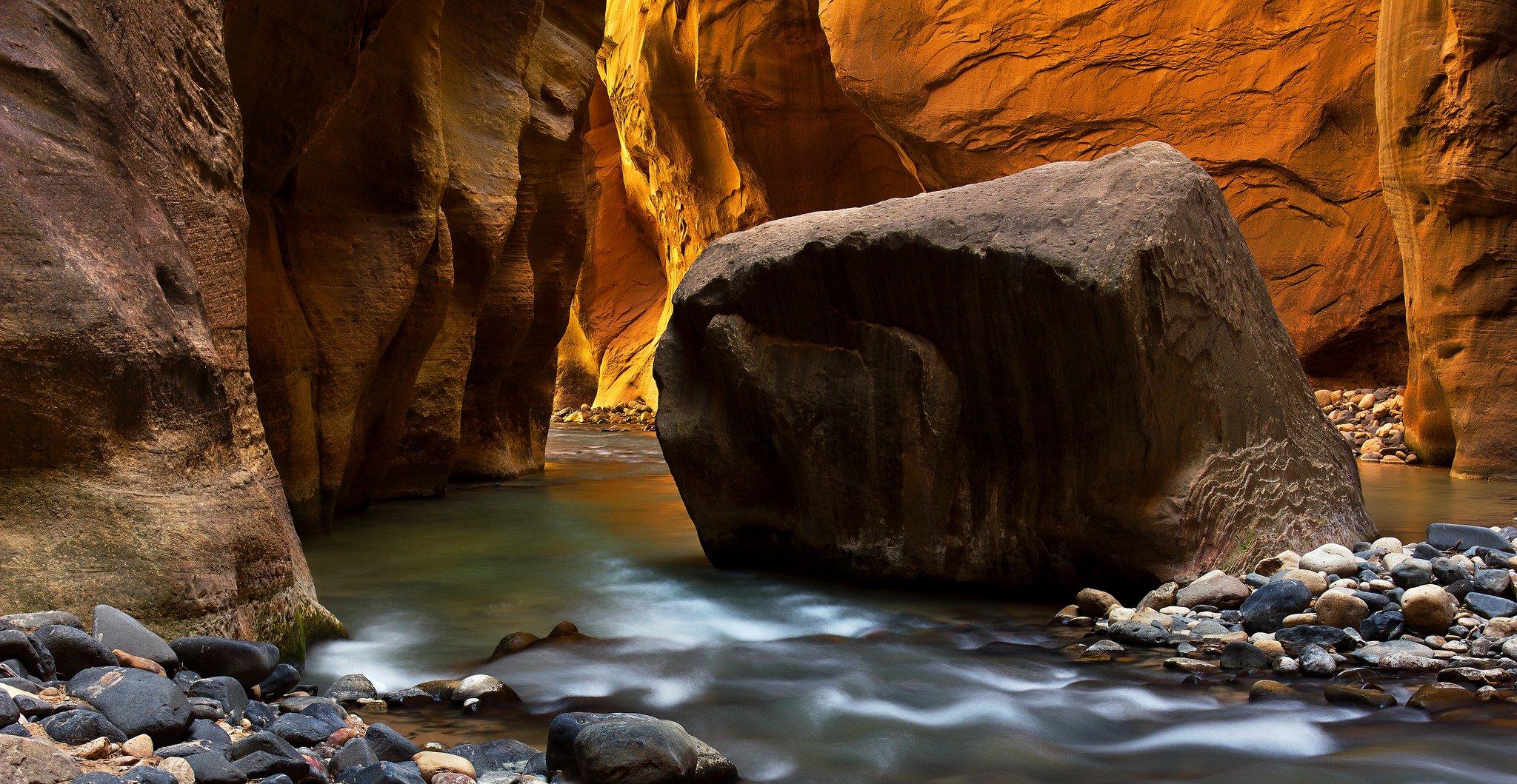 zion national park river stream rocks wallpaper 2048x1059 429445 wallpaperup