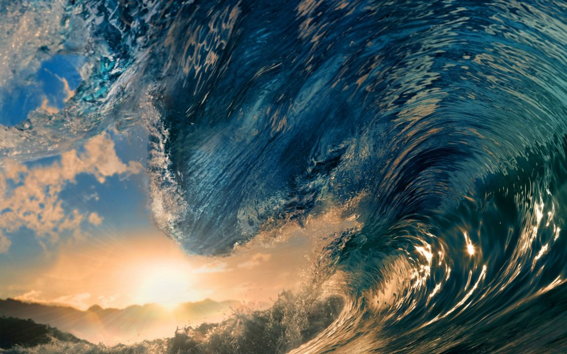 waves sunlight surfing tropical paradise ocean sea wallpaper
