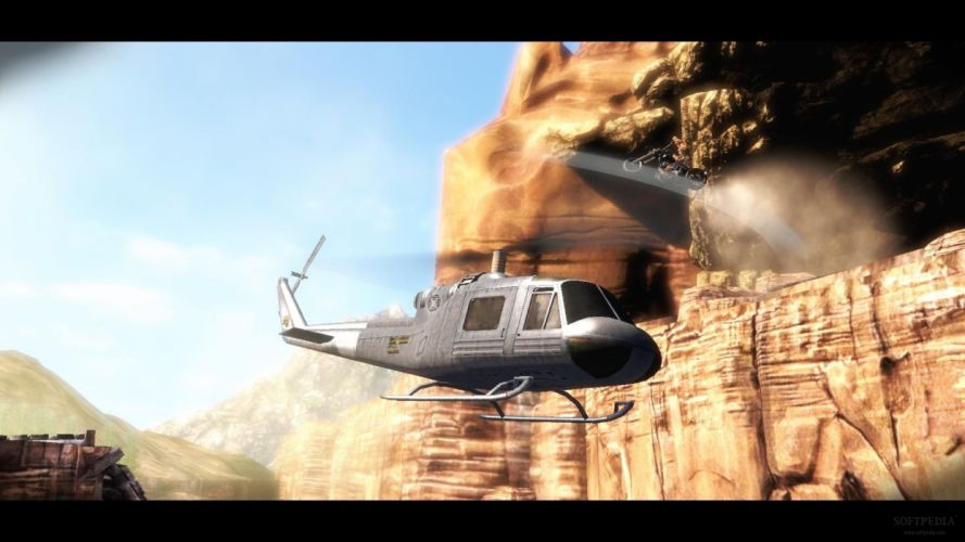 RIDE TO HELL RETRIBUTION action adventure biker fighting helicopter wallpaper
