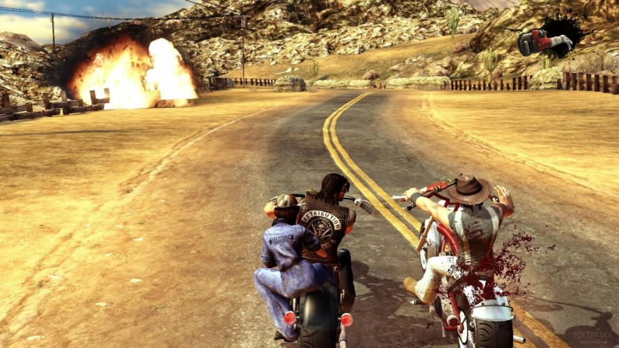 RIDE TO HELL RETRIBUTION action adventure biker fighting wallpaper