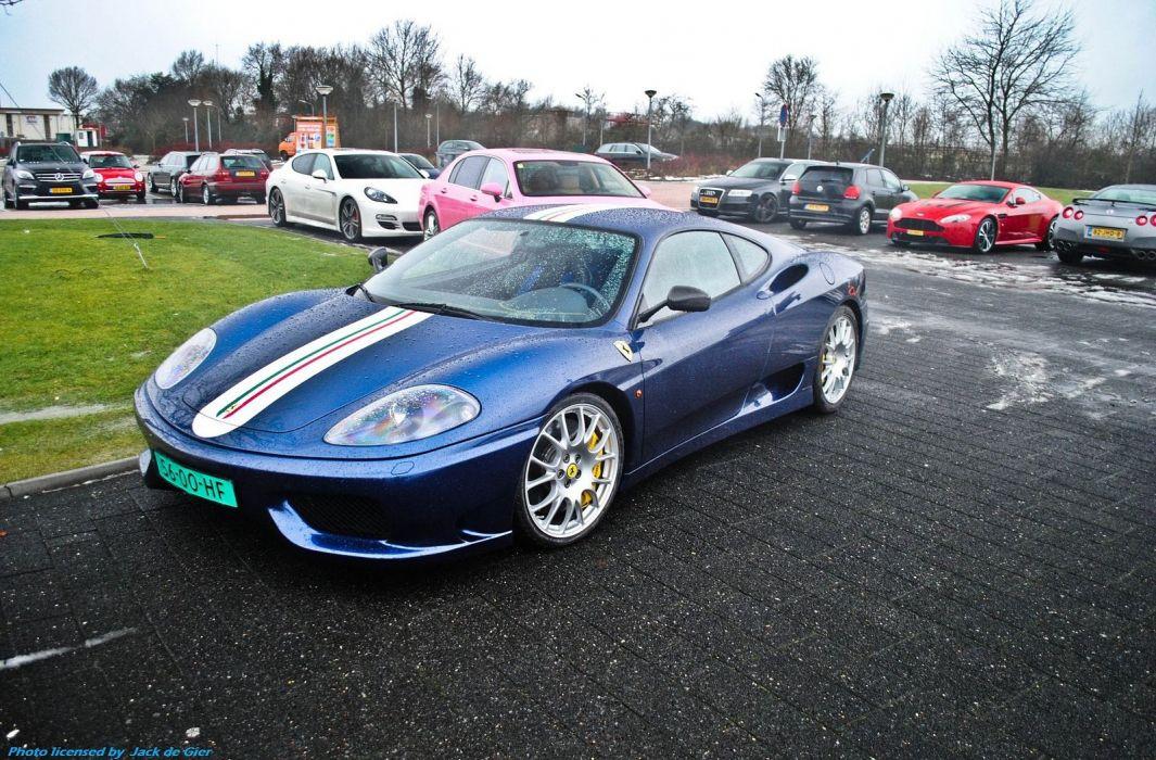 2003 360 challenge Ferrari stradale blue blue blu wallpaper