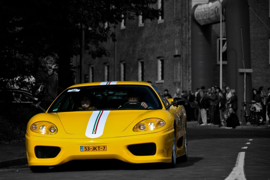 2003 360 challenge Ferrari stradale jaune giallo yellow wallpaper