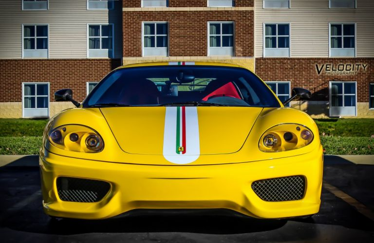 2003 360 challenge Ferrari stradale jaune giallo yellow wallpaper