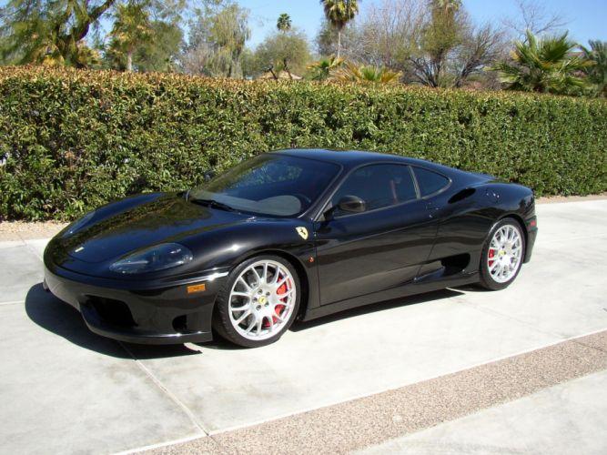 2003 360 challenge Ferrari stradale noir black nero wallpaper