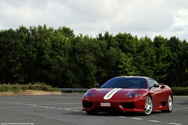2003 360 challenge Ferrari stradale rouge rosso red wallpaper
