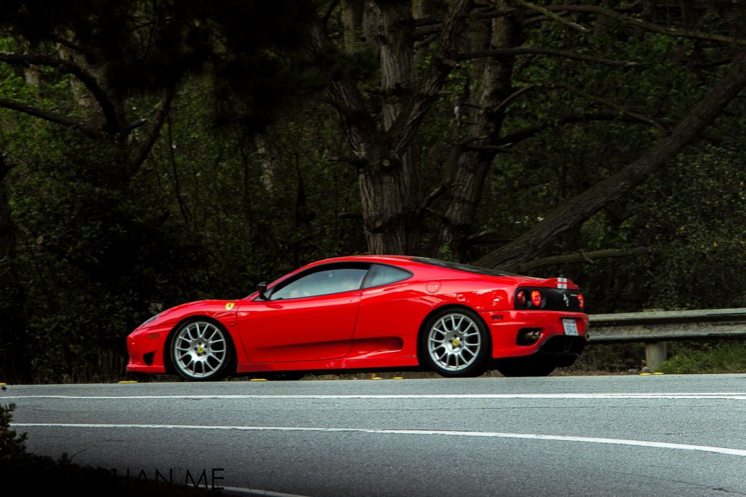 2003 360 challenge Ferrari stradale rouge rosso red wallpaper