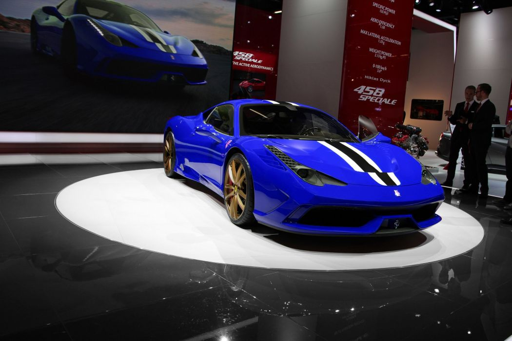 2013 458 Ferrari speciale Supercar bleu blue blu wallpaper