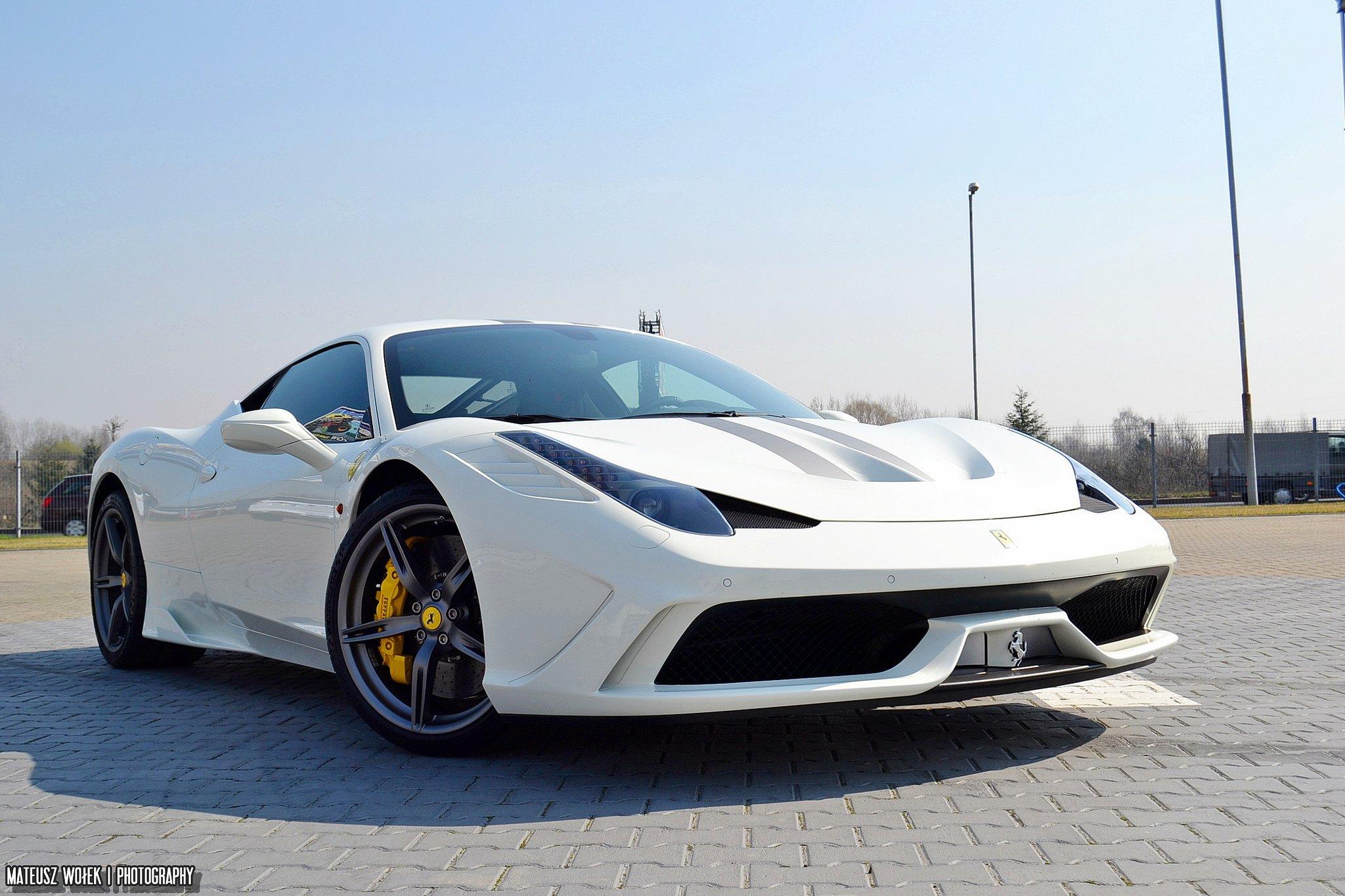 2013 458 Ferrari Speciale Supercar White Blanc Blanco