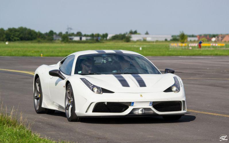 2013 458 Ferrari speciale Supercar white blanc blanco wallpaper