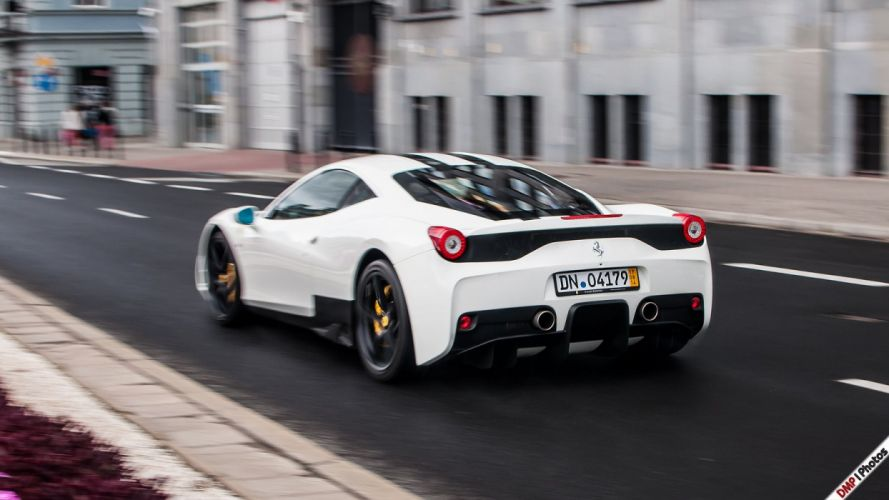 2013 458 Ferrari speciale Supercar white blanc blanco wallpaper