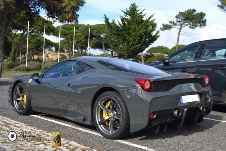 2013 458 Ferrari speciale Supercar gris grey grigio wallpaper