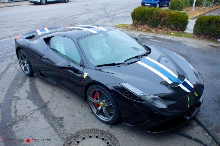 2013 458 Ferrari speciale Supercar noir black nero wallpaper