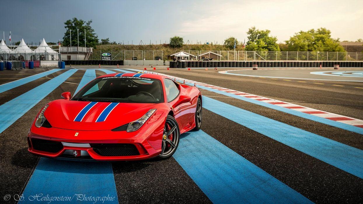 2013 458 Ferrari speciale Supercar rouge red rosso wallpaper