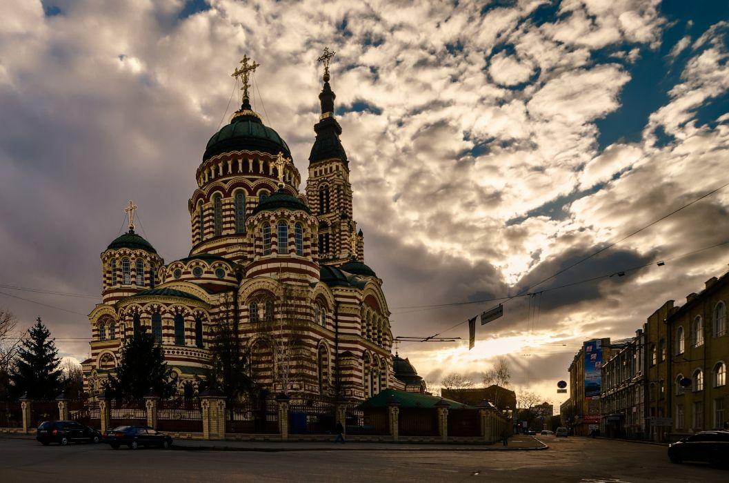annunciation cathedral kharkov ukraine church building wallpaper