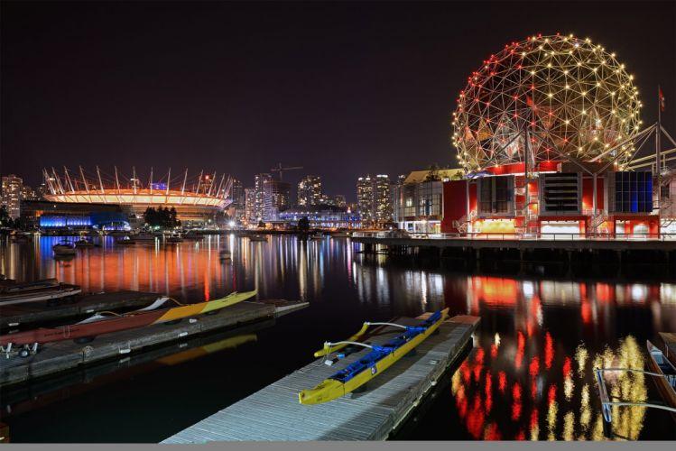 Canada Kaduna BC Place BC Place Stadium Vancouver amusement reflection wallpaper