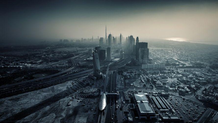 Dubai city sunset wallpaper