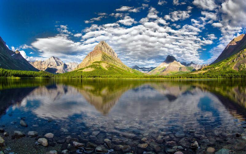 grinnell peak swiftcurrent lake glacier national park wallpaper