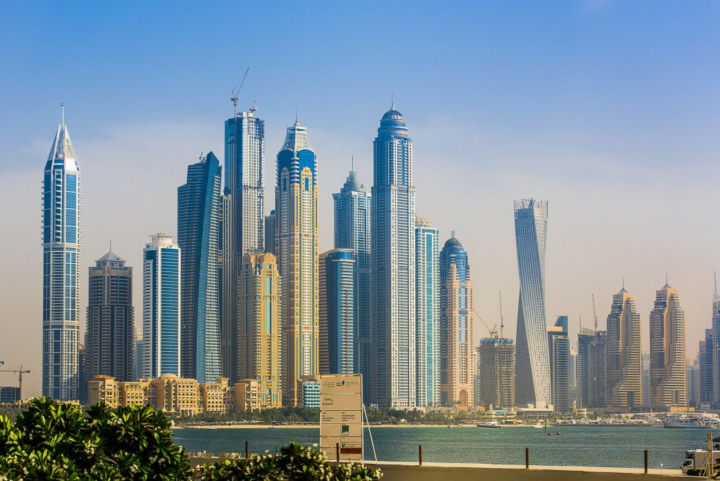 Marina Dubai UAE city skyscraper wallpaper