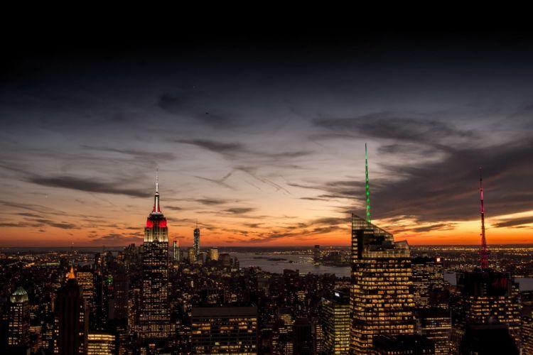 new york city empire state building manhattan usa wallpaper
