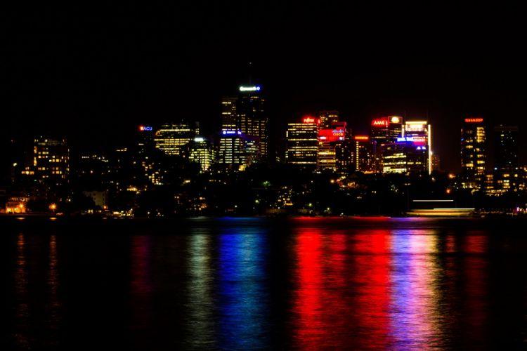 sydney australia reflection skyline wallpaper