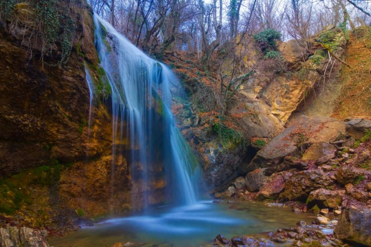 Russia Waterfall Autumn Nature river wallpaper