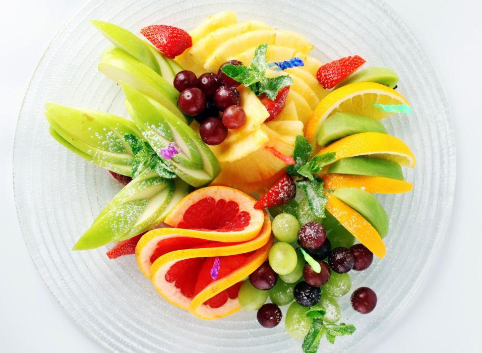 banana kiwi grapefruit salad fruit dish strawberry pineapple wallpaper