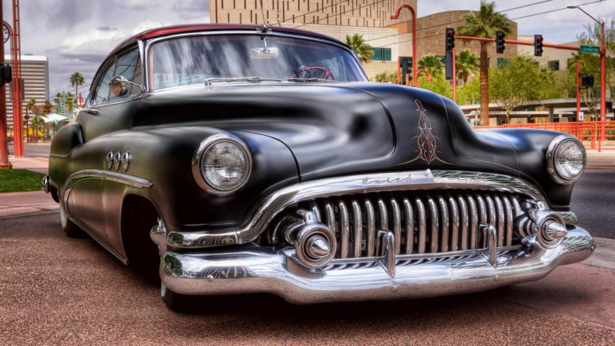 Buick retro car front tuning custom lowrider wallpaper