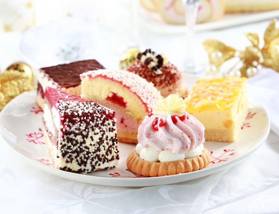 cake dish candy cream dessert sweets wallpaper